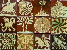 Andrew McGarva,Medieval style tiles, Carreaux style médiéval