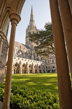 Salisbury Cathedral ~ was formerly known as the  Cathedral Church of the Blessed Virgin Mary. The cathedral was constructed in 1220 and is located in Salisbury, England.