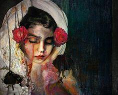 Painting By Suhair Sibai : Sleeping Beauty of Erbin