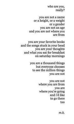 You are a thousand things ~ #quote
