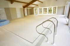 Retractable floor over indoor swimming pool, very very future home idea