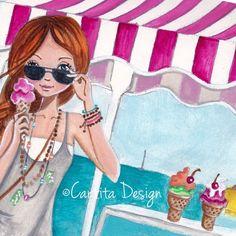 Ice Cream ~ Caroline Bonne-Muller