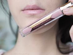 Max Factor Honey Lacquer Honey Rose on NC10 // cool pale pink lip gloss swatch // Mateja's Beauty Blog