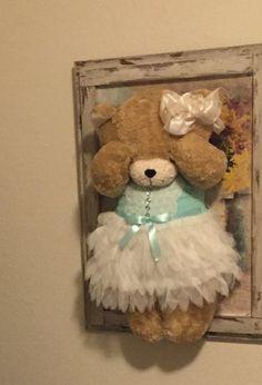 Wall Hanging Peek-A-Boo Bear by DecorandDesignLab on Etsy