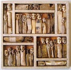 franswazz: Marc Boulier, Outsider artist I LOVETH assemblage/found object art! Art Altéré, Art Populaire, Art Brut, Found Object Art, Ouvrages D'art, Assemblage Art, Naive Art, Driftwood Art, Outsider Art