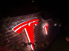Custom Made Tesla Logo wall sign Size XL and Size S Logo Smart, Tesla Logo, Smart Auto, Logo Sign, Easy Wall, Wall Signs, Save Energy, Wall Mount, Cool Pictures