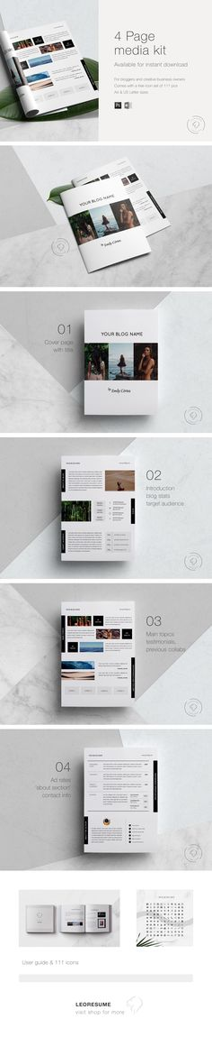 This elegant and modern media kit will take your online business to the next level! Media Kit Template, Microsoft Word 2007, Email Subject Lines, Branding Tools, Blog Names, Photoshop Design, Text You, Blog Tips, Editorial Design
