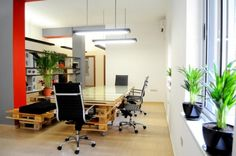 Design Your Office with plants. #contemporaryofficedesign
