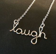 Silver Wire laugh necklace by WorkingWire on Etsy, $18.00