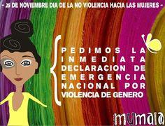 Declaración Emergencia Nacional por Violencia de Género #MUMALA