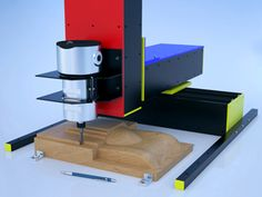 CNC Mill No table, bolts to worksurface.