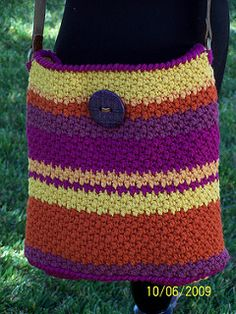 As seen on Knit and Crochet Now TV Episode 3-110. This bag is a quick project and will take you no longer than a day to make.