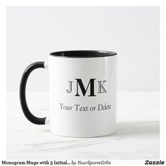 Start your day off right with a custom mug! Sip from one of our many Yoga coffee mugs, travel mugs and tea cups offered on Zazzle. Personalised Gifts For Him, Personalized Mugs, Customized Gifts, Tea Mugs, Coffee Mugs, Fathers Day Ideas For Husband, Monogram Template, Bosses Day Gifts, Monogram Coffee Mug