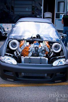 6.0 Powerstroke Twin Turbo Honda Bad ass civic