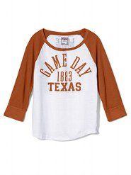 Drapey Baseball Tee - University of Texas - Victoria's Secret
