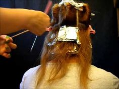 Como hacer MECHAS Y TINTE A LA VEZ, (CORTINAS) hightlights and color. VIDEO 1 - YouTube