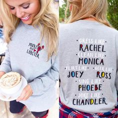OMG! We are in love with our new Friends themed long sleeve shirt from the Jadelynn Brooke Choose Your Crew collection.  Jadelynn Brooke knocked it out of the p