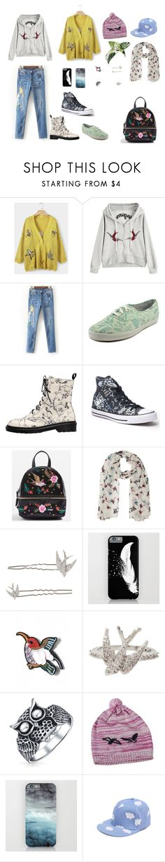 """""""Bird Fashion"""" by indigofudge on Polyvore featuring WithChic, Keds, Converse, Topshop, M&Co, Betsey Johnson, Bling Jewelry, NOVICA and Lulu in the Sky"""