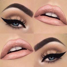 .spring makeup | subtle makeup | winged liner | pink lip