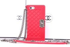 Chanel luxurious Handbag silicone case for iPhone 5/5S watermelon red Free Shipping - Deluxeiphonecase.com