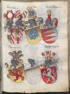 Grünenberg, Konrad: Das Wappenbuch Conrads von Grünenberg, Ritters und Bürgers zu Constanz um 1480 Cgm 145 Folio 216