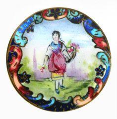 Bouton  grande demoiselle C.Hand-peinture émail Silent par rclarner