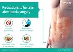 Have you been through a #Hernia #Surgery recently? Watch for these #precautions and be safe!