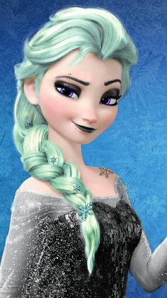 Elsa on dark Disney Emo Disney, Frozen Disney, Kida Disney, Punk Disney Princesses, Dark Disney, Elsa Frozen, Disney Art, Disney Movies, Punk Disney Characters