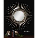 $305.80 Uttermost - Sedona Beveled Mirror in Antiqued Silver Leaf - 13769