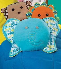 Adorable elephant fleece pillow!