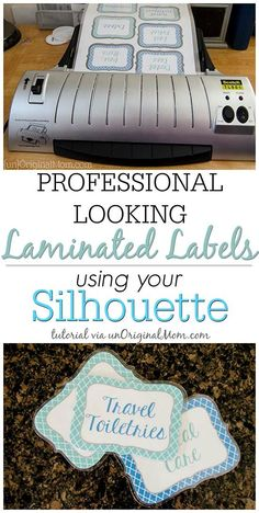 Wow, you can make create and cut out laminated labels with your Silhouette Portrait or Cameo! Full step-by-step tutorial to do it yourself!