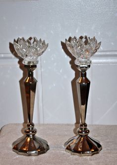 Vintage Godinger SilverPlate Crystal Lotus by QUEENIESECLECTIC, $68.00