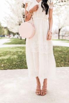 White Midi Dress #summer #style