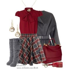 """""""Pleated Skirt"""" by michelleruth on Polyvore"""