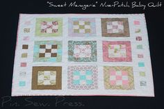 Hushabye Baby Quilt by Mary1602, via Flickr