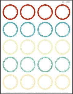 2 Round Free Printable Labels - 20 per sheet