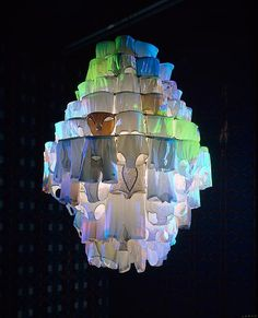 Pipilotti Rist's Glowing Underwear Chandelier, from Pottery Barn.