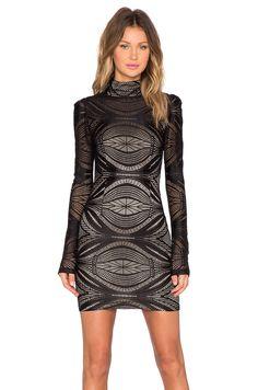 AGAIN Langston Dress in Black