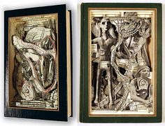 Hollow Book art | Other work from Brian Dettmer includes some kind of fossil formations ...