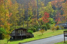 Cabin rentals at Fontana Village Resort - fall colors