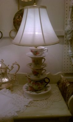 Teacup/teapot lamp.