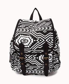Tribal Pattern Backpack   FOREVER 21 - 1031557717