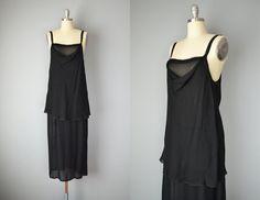 Vintage 20s Dress // 1920s Sheer Black Silk by OffBroadwayVintage, $485.00