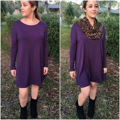 Long sleeve dress in plum Long sleeve flowy tunic dress in plum. Please do not purchase this listing. Comment with size and I will create a new listing for you. Small (2/4) Medium (6/8) Large (10/12). Price is firm unless bundled. Dresses