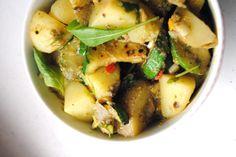 Pestoinen peruna-kesäkurpitsasalaatti