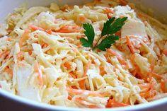 Vše smícháme a necháme vychladit. Výborné i ke grilovanému masu.  Opravdu doporučuji!... Kfc, Coleslaw, Cabbage, Vegetables, Ethnic Recipes, Food, Coleslaw Salad, Essen, Cabbages