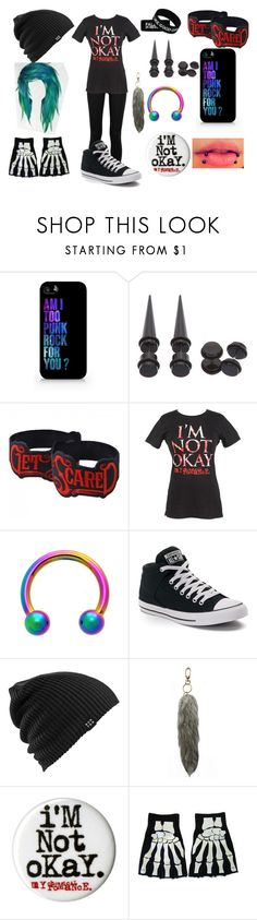 """Untitled #107"" by weird-emo ❤ liked on Polyvore featuring Samsung, Hot Topic, Converse, Burton and Under One Sky"
