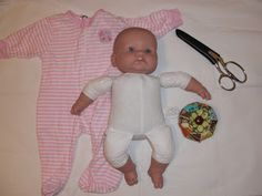 Baby Clothes to Doll Clothes -- TUTORIAL ~ So Easy! Can't wait to try. Too bad I only have baby boy clothes now.