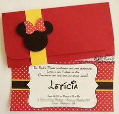 Resultado de imagem para convite aniversario mickey mouse