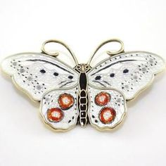 Vintage Sterling Silver Hroar Prydz Modernist Enamel Butterfly Pin Brooch Butterfly Pin, Insect Jewelry, Modern Colors, Beautiful Butterflies, Makers Mark, Brooch Pin, Enamel, Norway, Christmas Ornaments